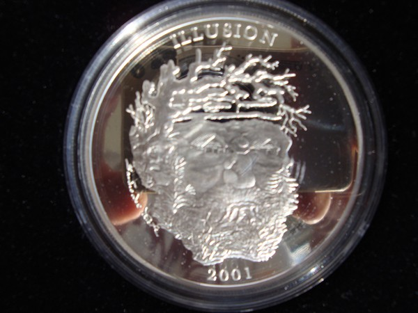 silver coin: Spirit of the Mountain