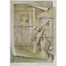 lithograph: Homage to Leonardo da Vinci Nr. XVI / XX hand coloured, limited special edtion 